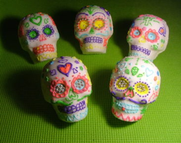 Decorated sugar skulls