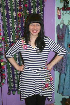 Striped dress by Caite