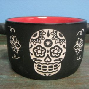 Sugar Skull bowl - kitchen decor