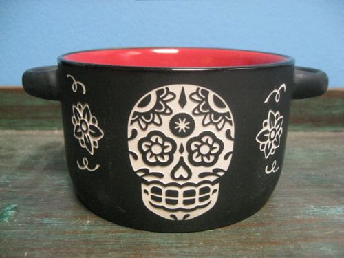 Sugar Skull bowl - kitchen decor