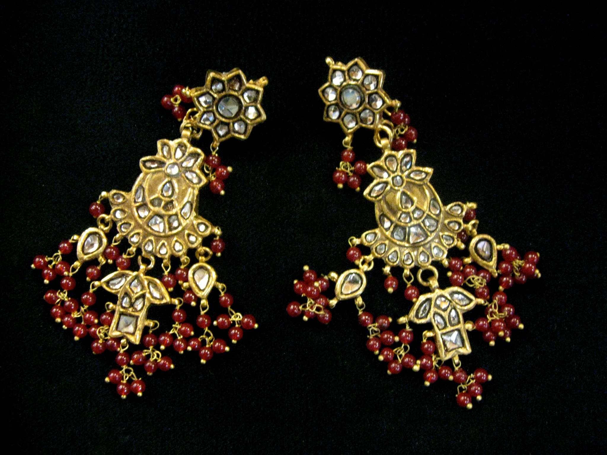 Incredible Turkish 22k Gold over Silver Earrings