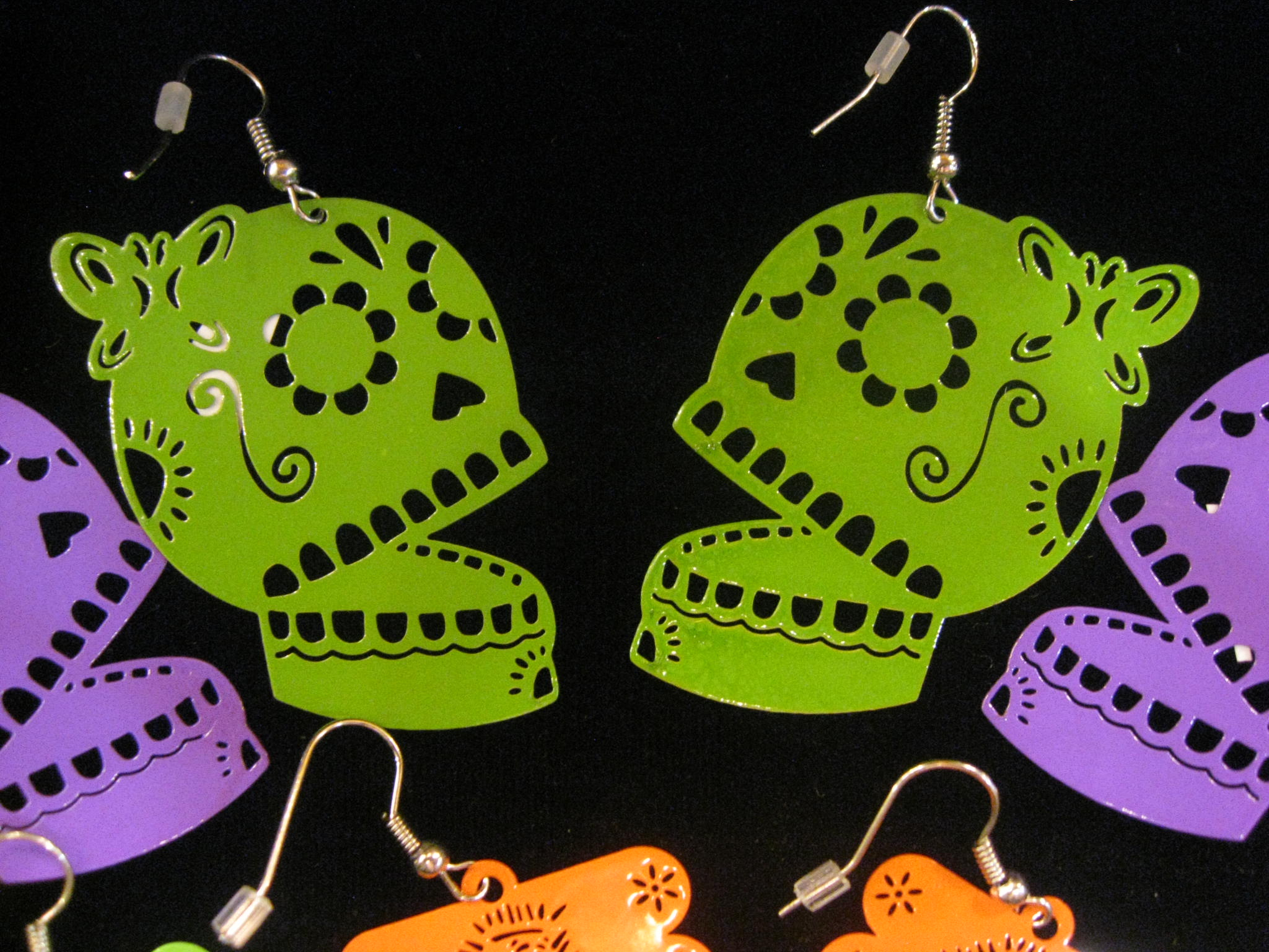 New! Papel Picado Earrings and Sacred Heart Jewelry!