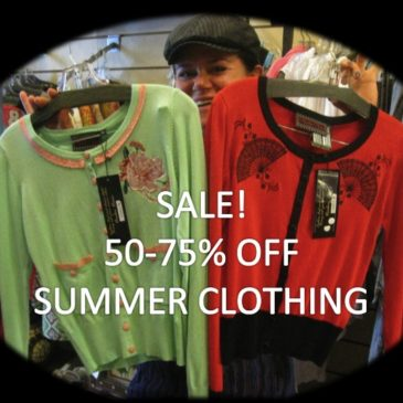 Sizzling Summer Sale- 50 to 75% off clothing!