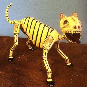 Joel Garcia Day of the Dead cat, $350