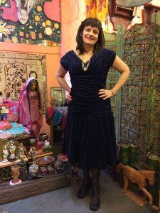 Alice's Pig velvet dress