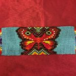 Butterfly beaded bracelet from Guatemala