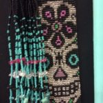 Sugar skull beaded necklace from Guatemala