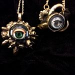 KT Creations doll eye necklaces