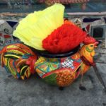 Mexican rooster planter