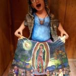Mexican clay virgin of guadalupe