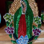 Virgin of Guadalupe sequined patch