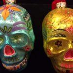 hand blown sugar skull glass ornaments
