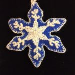 snowflake embroidered ornament
