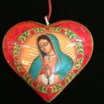Virgen of Guadalupe heart ornament