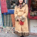 TASHA POLIZZI suede long tan coat