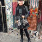 SAGA gray winter coat with ruffles