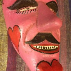 Mexican mask with hearts