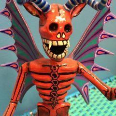 Devil with Skull