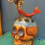 Skull with Mermaid