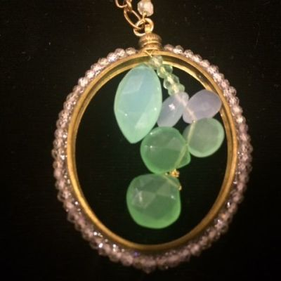 Joli Necklace with Chalcedony and Czech Beads