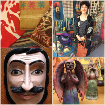 Four Day sale in honor of Julia: 20% off of vintage and antique textiles, Flax clothing, masks, and the ceramics of Josefina Aguilar and family