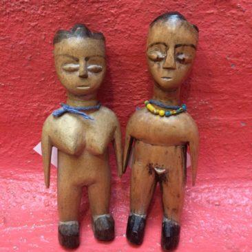 Antique carved wood Ewe spirit figures from Guana/Togo