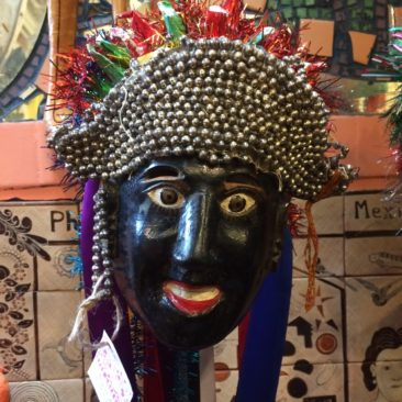Vintage Mexican Negrito Dance Mask