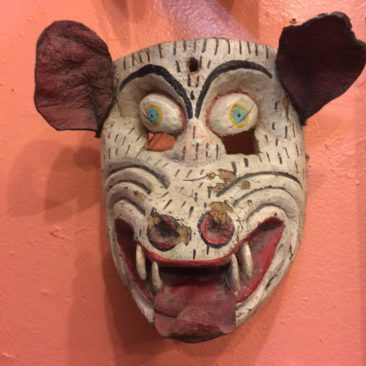 Vintage Mexican Dace Mask: Boar