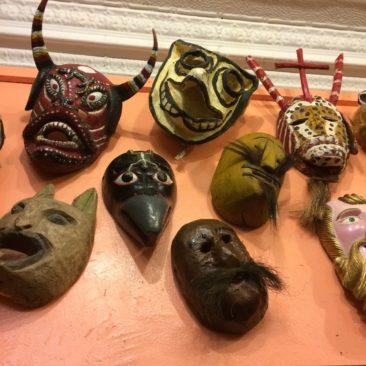 Vintage Mexican masks