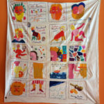 Embroidery featuring Isaiah Zagar drawings