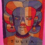 Textile featuring image of Julia Zagar