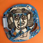 Mosaic featuring Julia Zagar by her husband, Isaiah