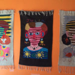 Woven rugs featuring Julia Zagar