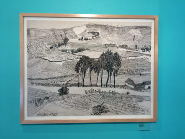 Ink landscape drawing by Julia Zagar