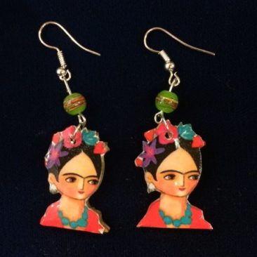 Cute Frida Kahlo earrings