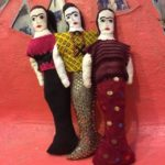 Hand made Mexican mermaid dolls