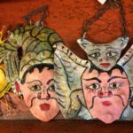 Hand painted copper hangings, $12.50 each