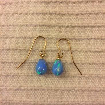 Ruth Doron opal and gold earrings