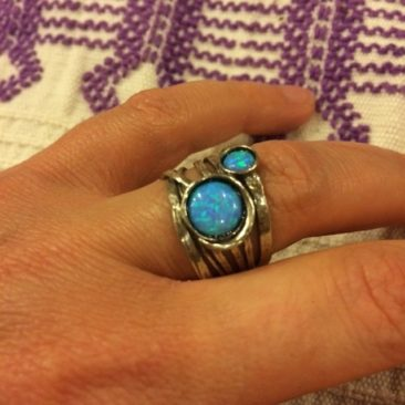 Ruth Doron silver with opal ring, $84, size 8