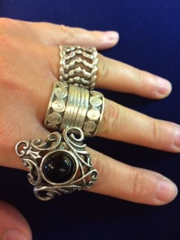 Chanour rings, $17 each