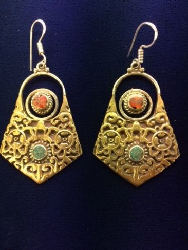 Tibetan earrings, $48