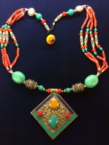 Tibetan necklace, $72