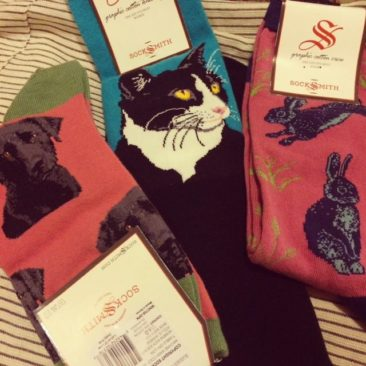 Sock designs by SOCKSMITH, $7.50-$10/pair