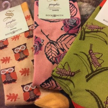 Bamboo sock designs by SOCKSMITH, $10/pair