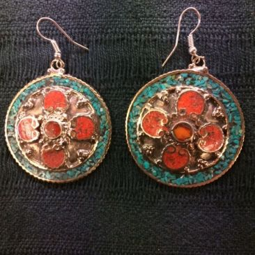 Tibetan earrings, $24