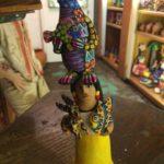 Josefina Aguilar ceramic figure balancing creatures