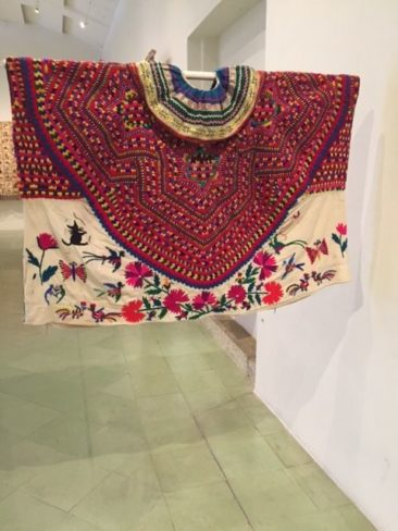 Embroidered and woven Oaxacan huipil