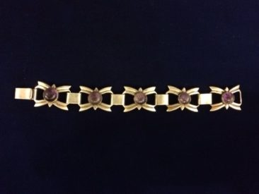 Vintage Mexican sterling and amethyst bracelet, $225
