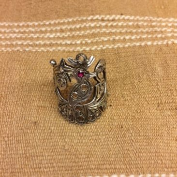 Vintage Mexican silver peacock ring from the 1960s, $94