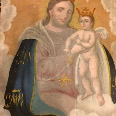 The Virgin of the Refuge with Jesus Retablo